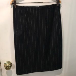 Theory pencil striped two slits on back skirt